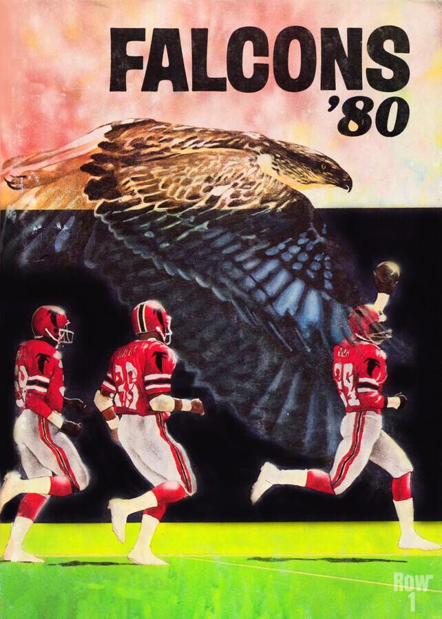 1980 retro nfl atlanta falcons poster  Print
