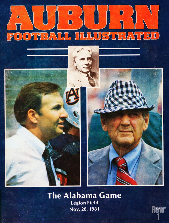 1981 Alabama vs. Auburn Program Cover  Print