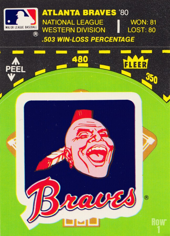 1981 Atlanta Braves Fleer Decal Poster  Print