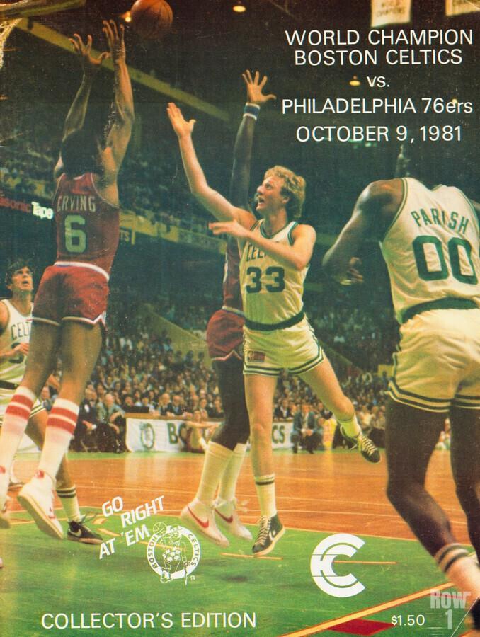 1981 boston celtics philadelphia 76ers larry bird art  Print