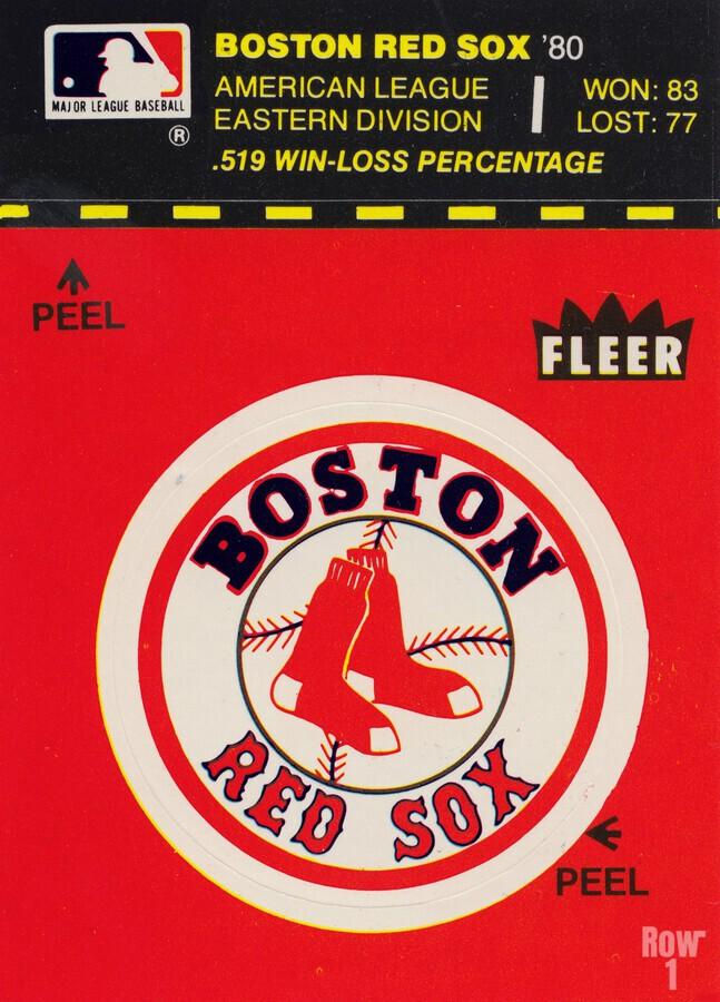 1981 Boston Red Sox Fleer Decal Art  Print