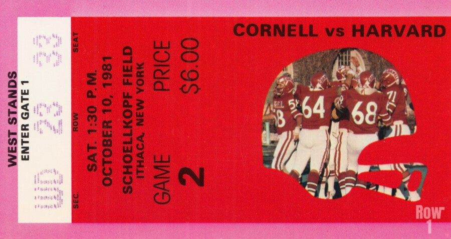1981 Cornell Big Red vs. Harvard Crimson  Print