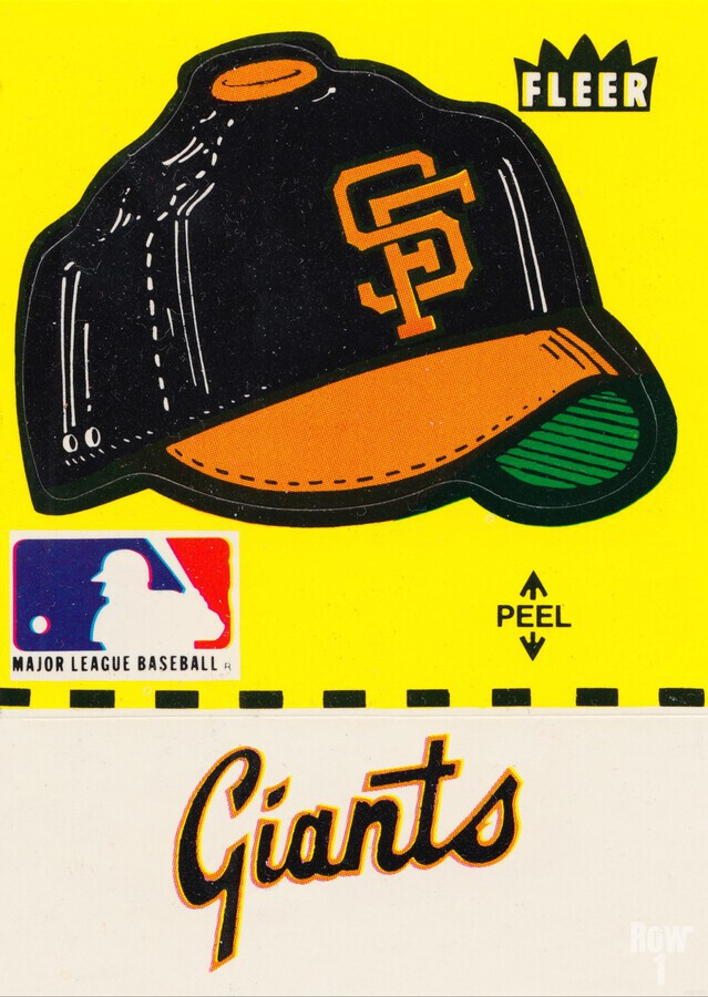 1981 San Francisco Giants Fleer Decal Poster  Print