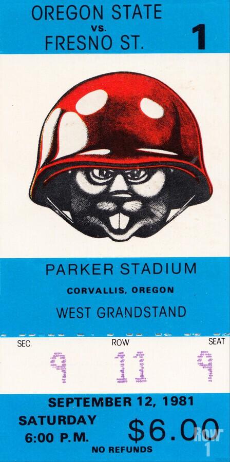 1981 Oregon State vs. Fresno State  Print