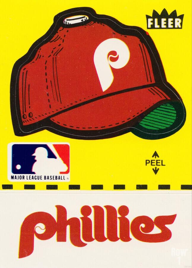1981 Phillies Fleer Decal Wall Art  Print
