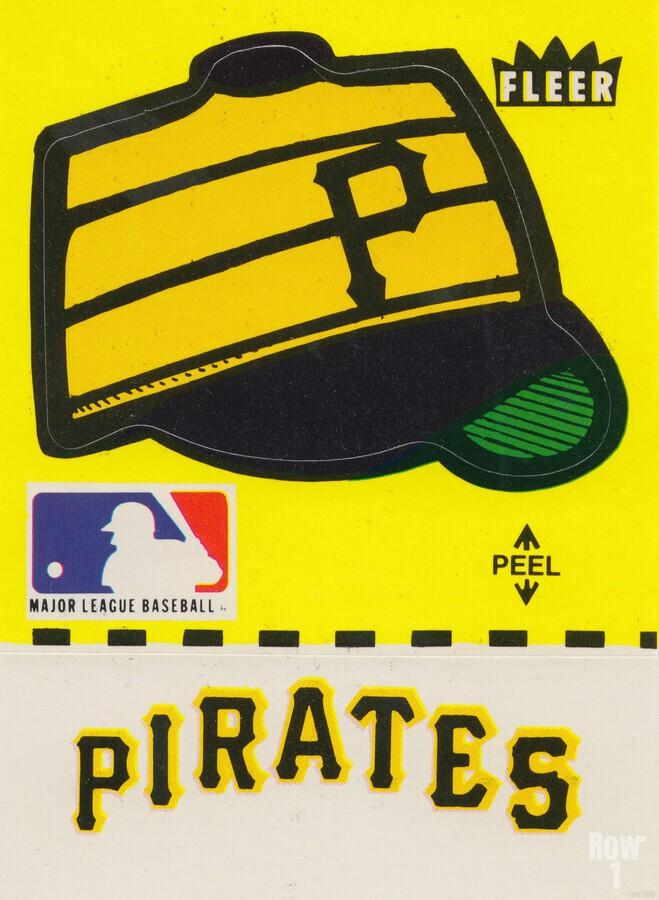 1981 Pittsburgh Pirate Fleer Decal Art  Print