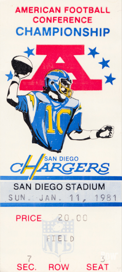 1981 Oakland Raiders vs. San Diego Chargers   Print