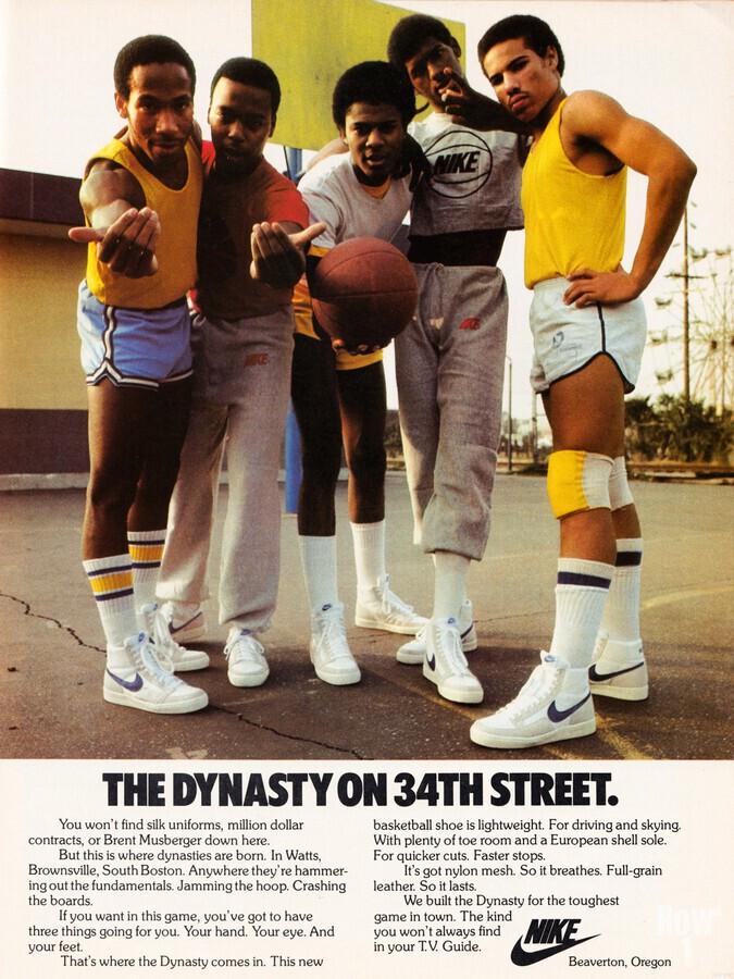 1981 Nike Ad Dynasty on 34th Street  Print