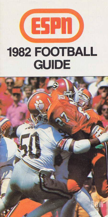 1982 ESPN College Football Guide Poster  Print