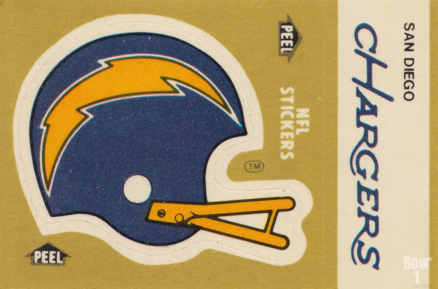 1982 Fleer Sticker San Diego Chargers Art  Print