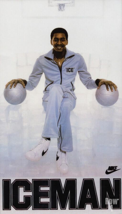 1982 George Gervin Nike Iceman Poster  Print