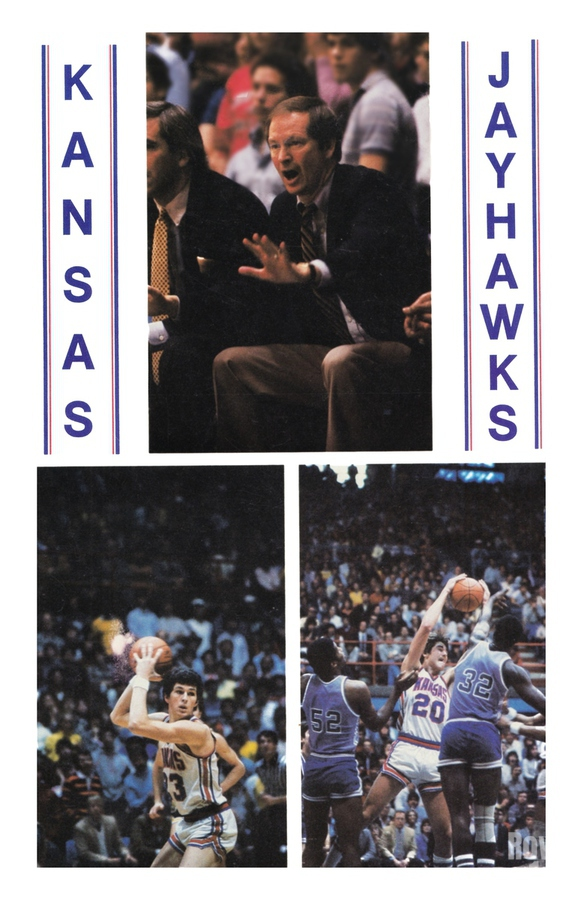 1982 Kansas Jayhawks Basketball Art  Print