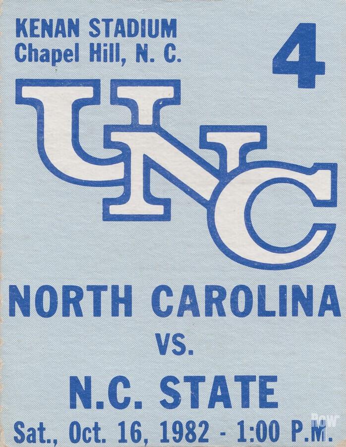 1982 North Carolina vs. NC State  Print