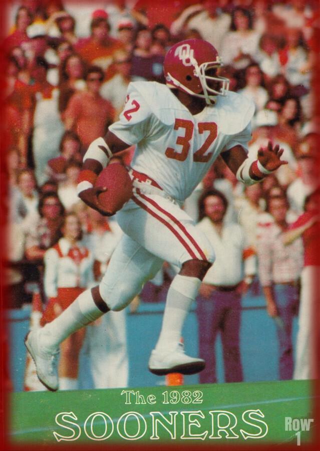 1982 oklahoma sooners retro college football poster  Print