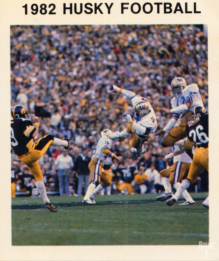1982 Washington Husky Football Poster  Print