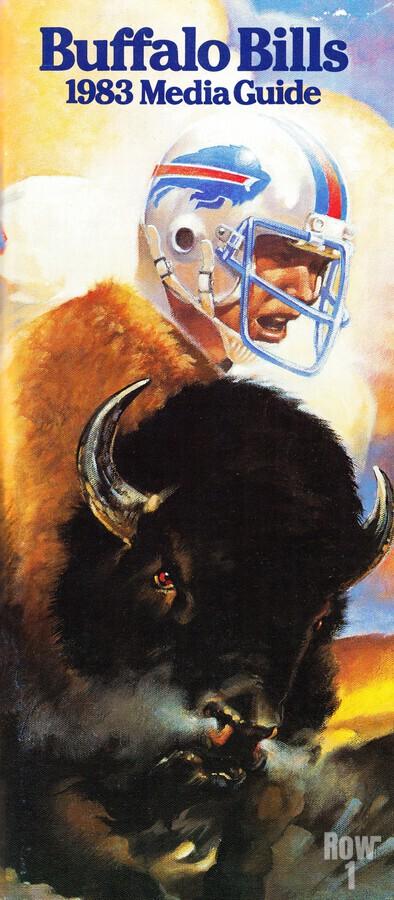 1983 Buffalo Bills Media Guide Artist Bill Ersland  Print