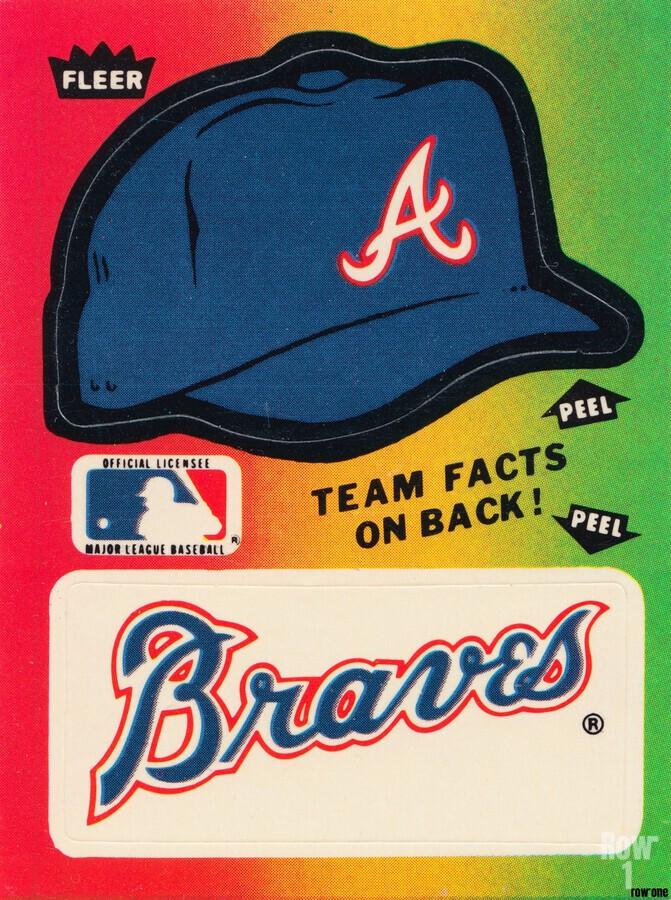 1983 Atlanta Braves Fleer Decal  Print
