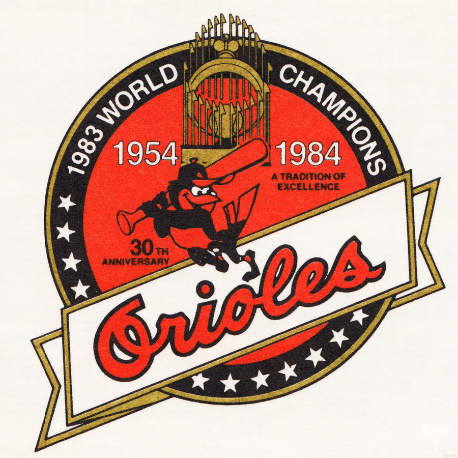 1983 Baltimore Orioles World Champions Art  Imprimer