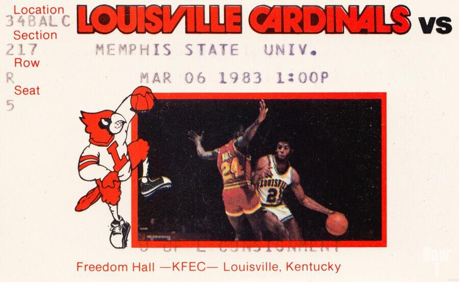 1983 Memphis State vs. Louisville  Print