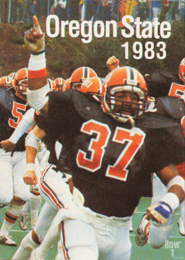 1983 Oregon State Beavers Football Poster  Print