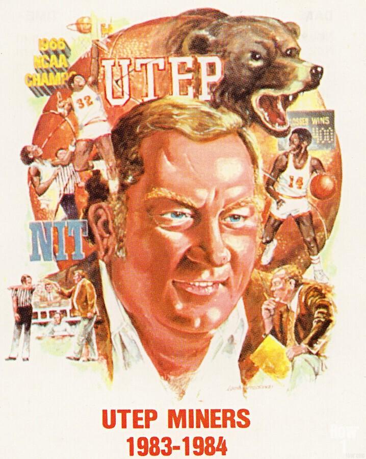 1983 UTEP Basketball  Print