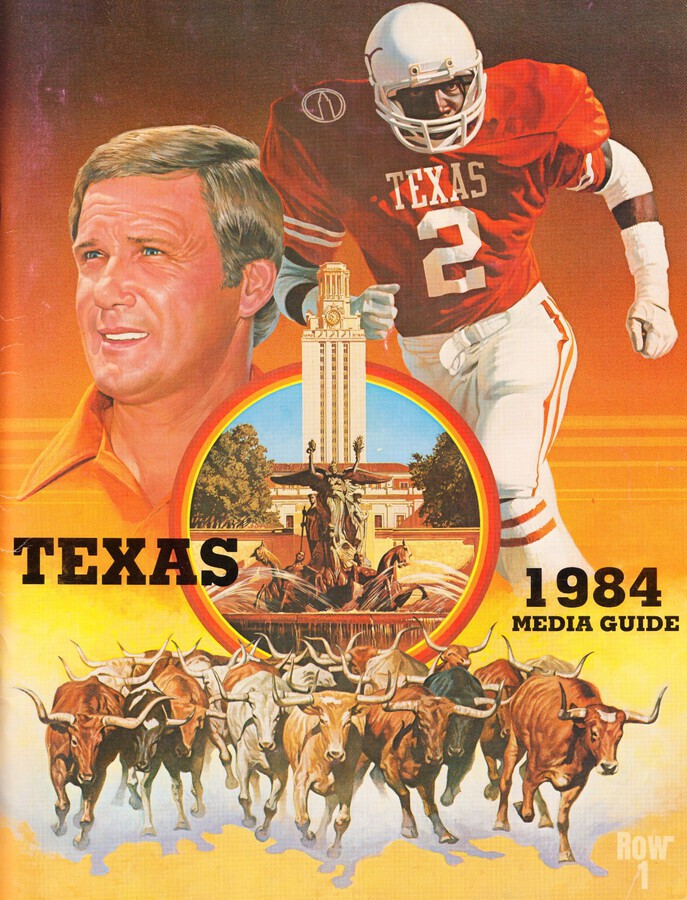 1984 Texas Longhorns Media Guide College Football Poster  Print