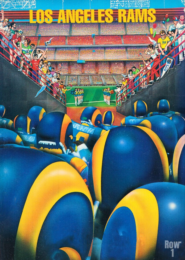 1984 Los Angeles Rams Enter The Field  Print