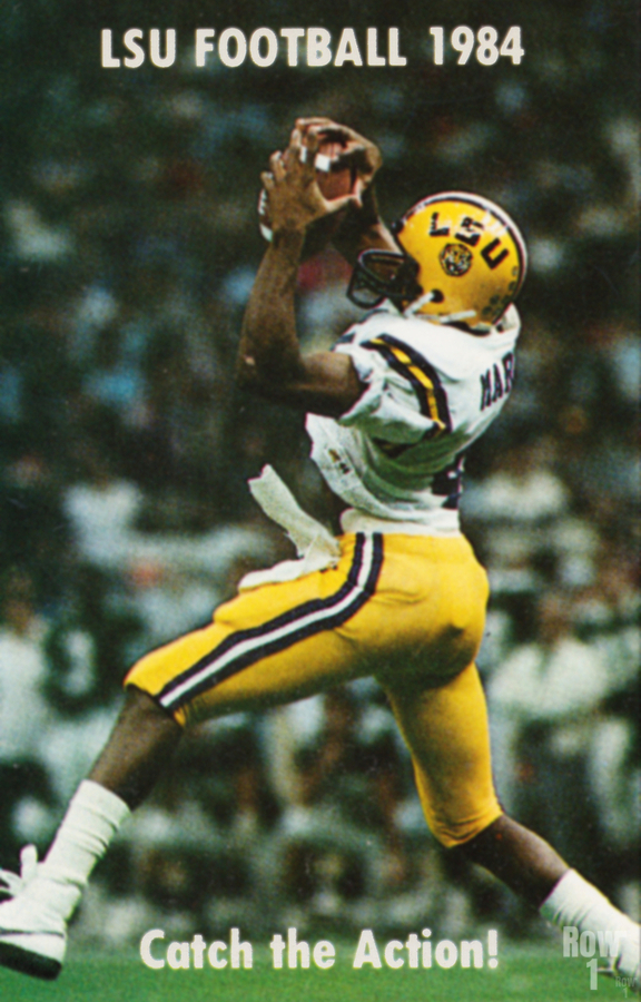 1984 LSU Tigers Football Catch The Action  Print