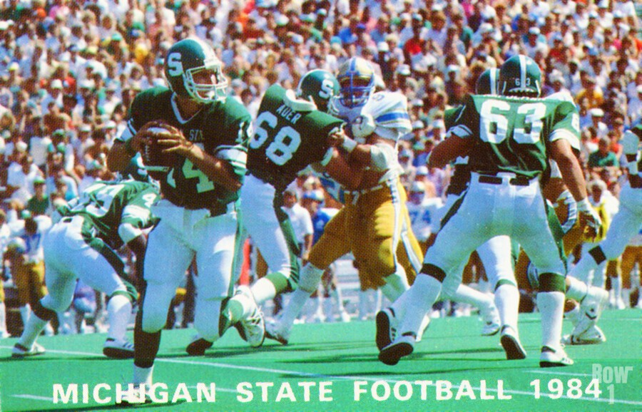 1984 Michigan State Football Poster  Print