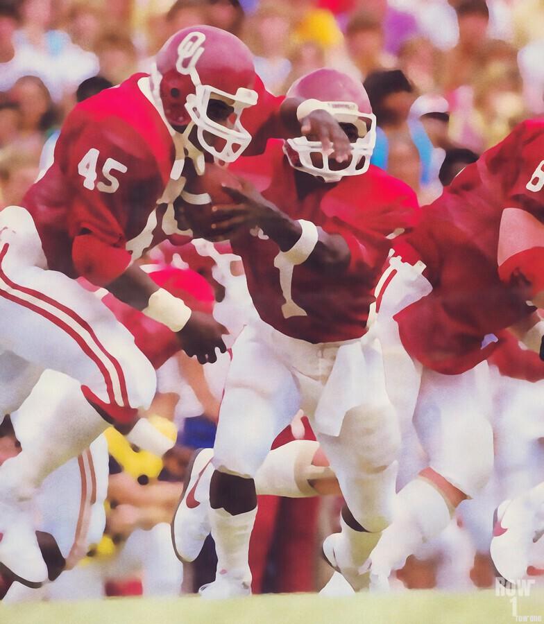 1984 Danny Bradley Oklahoma Sooners  Print