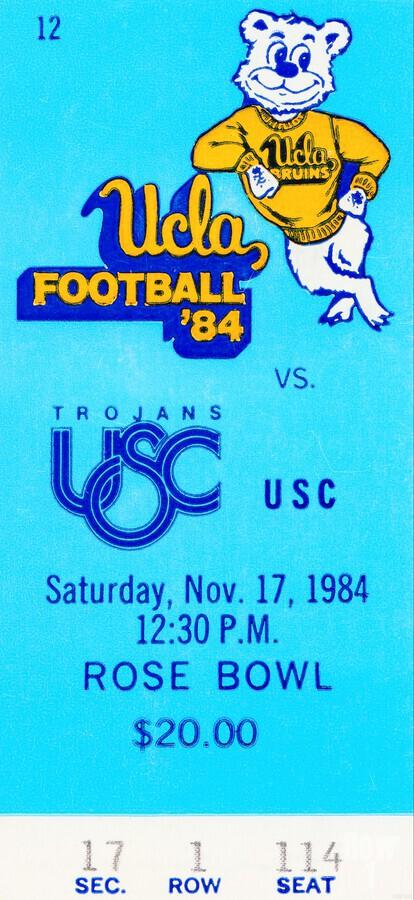 1984 USC vs. UCLA  Print