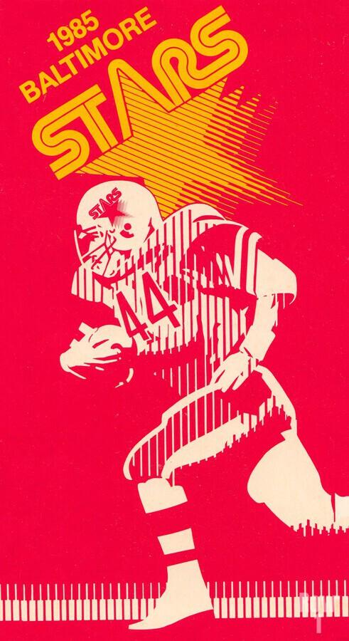 1985 Baltimore Stars USFL Football Art  Print