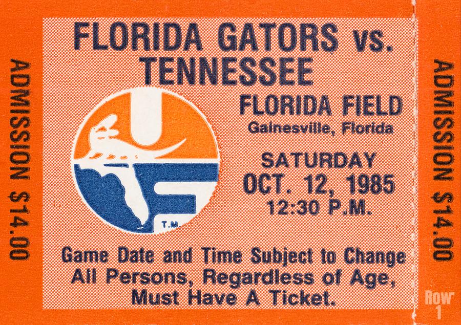 1985 Florida Gators vs. Tennessee Vols  Print