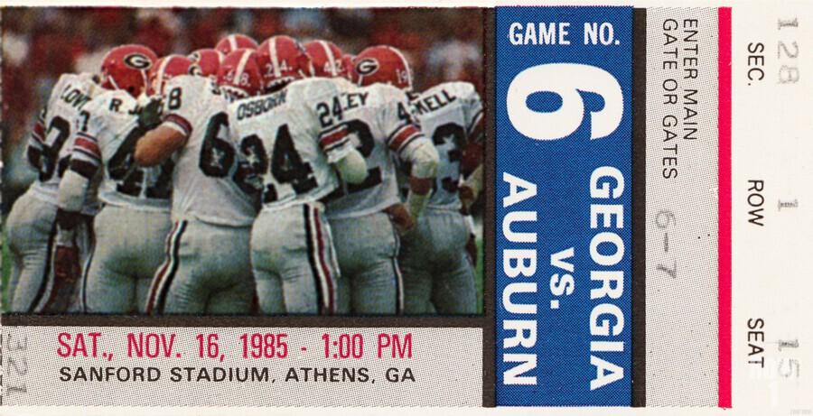 1985 Georgia vs. Auburn  Print
