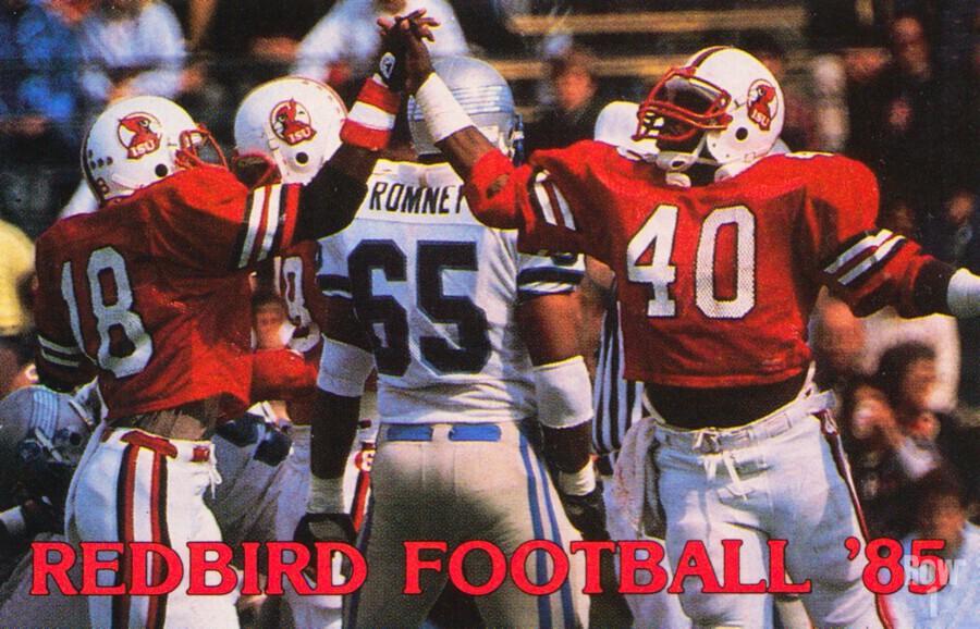 1985 Illinois State Redbirds Football Poster  Print