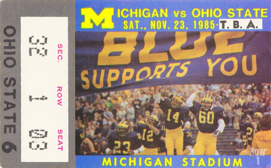 1985 Michigan vs. Ohio State  Print