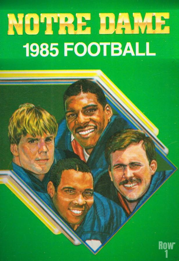 1985 Notre Dame Retro Football Poster  Print
