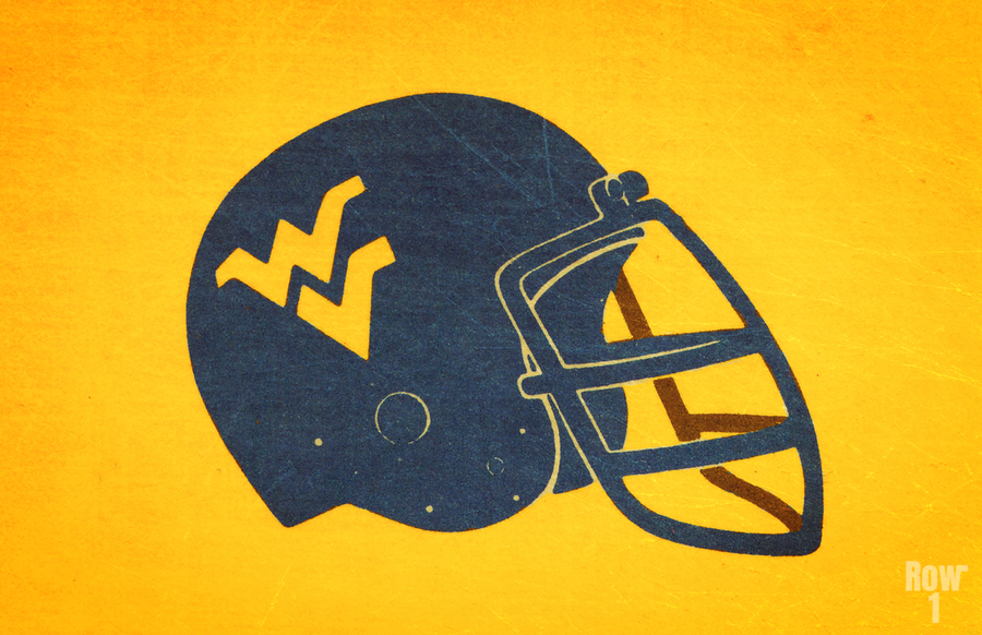 1985 West Virginia Mountaineers Football Helmet Art  Print