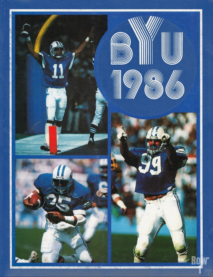 1986 BYU Cougars Football Art  Print