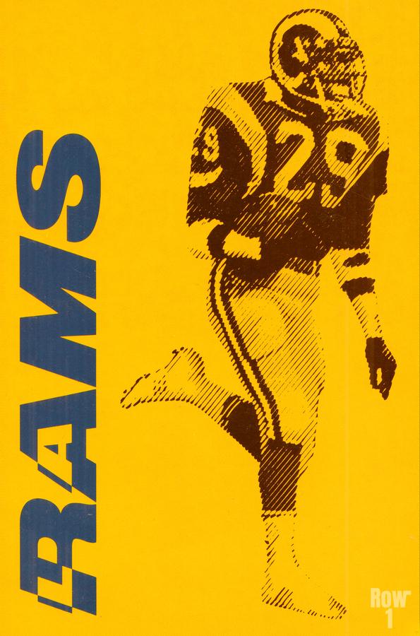 1986 LA Rams Football Art  Print