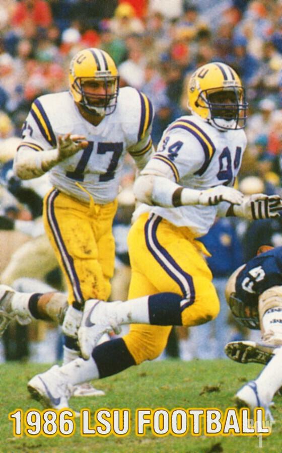 1986 LSU Retro Football Poster   Print