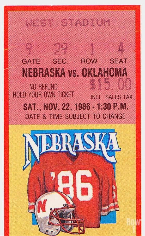 1986 Oklahoma vs. Nebraska  Print