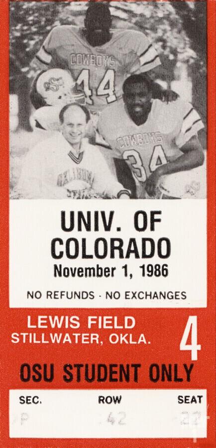 1986 Oklahoma State vs. Colorado  Print