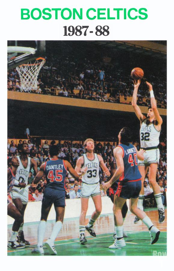 1987 Boston Celtics Larry Bird Poster  Print