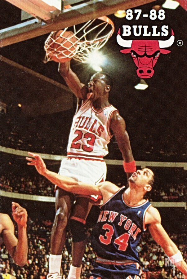 1987 Chicago Bulls Michael Jordan Art  Print