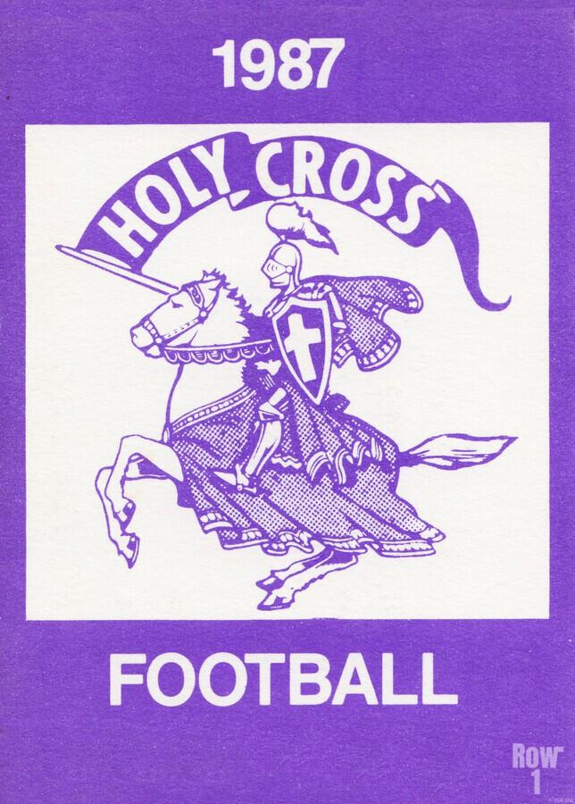 1987 Holy Cross Football  Print