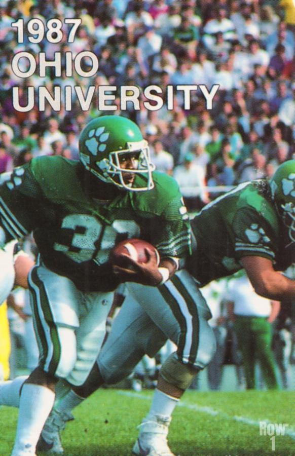 1987 Ohio Bobcats Retro Football Poster  Print