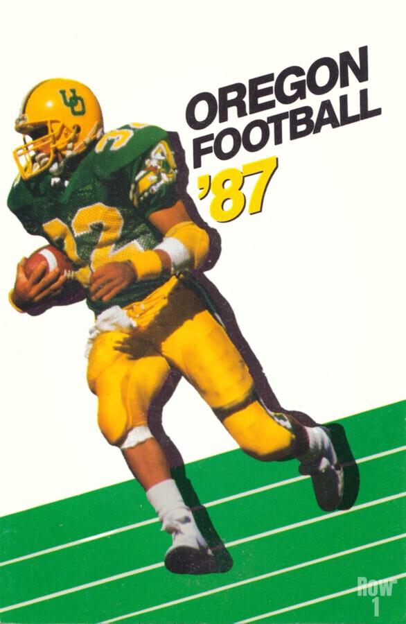 1987 oregon ducks retro football poster  Print