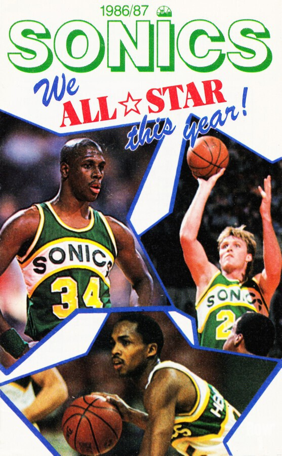 1987 seattle supersonics nba all star game poster  Print