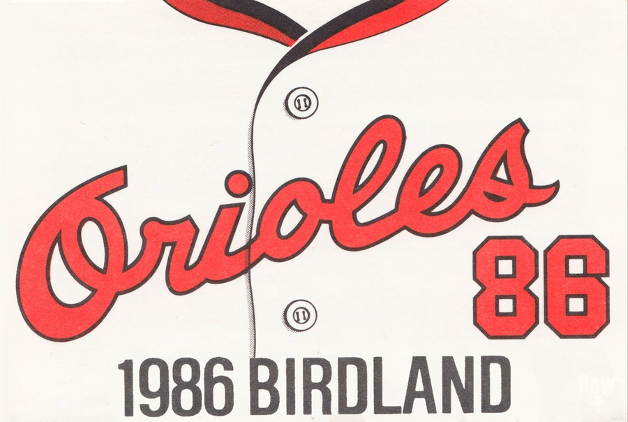 1986 Baltimore Orioles Metal Sign  Print